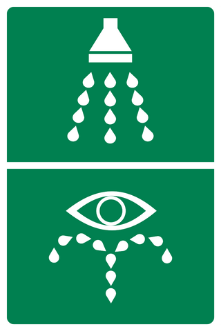 Emergency Shower/Eye Wash Symbols-A