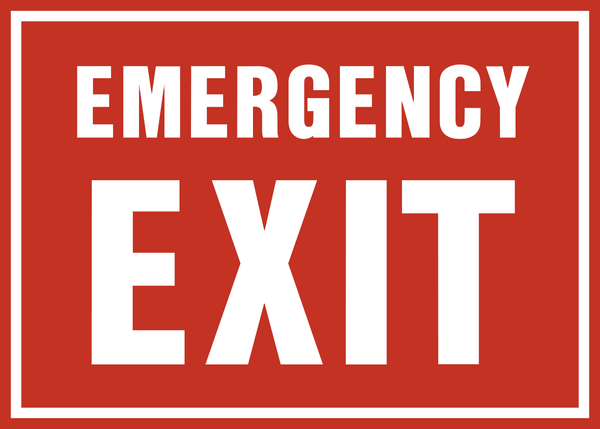Emergency Exit Western Safety Sign