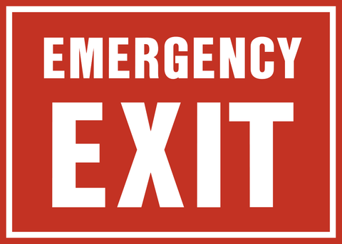 Exit Fire Exit Emergency Exit 2 Western Safety Sign