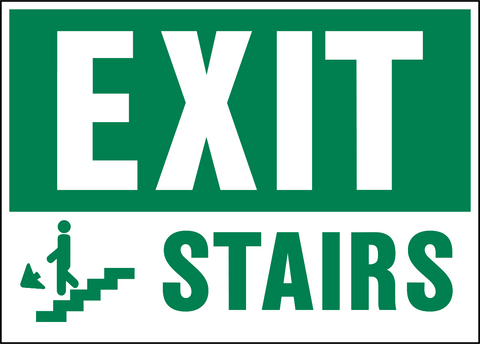 Exit Western Safety Sign