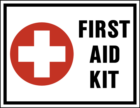 image relating to Printable First Aid Sign identified as 1st Assistance Package Western Protection Signal