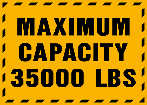 Floor Decal - Maximum Capacity