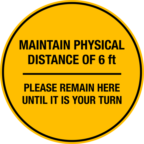COVID-19 Prevent the Spread - Physical Distance - Floor Decal