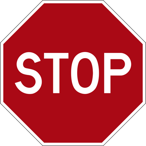 Floor Decal - STOP