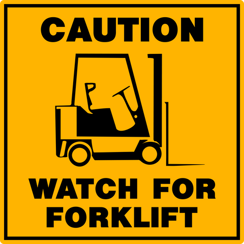 Floor Decal - Forklift