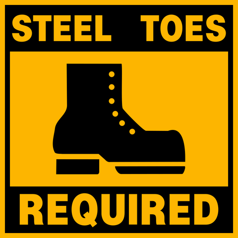 Floor Decal - Steel Toe Boots