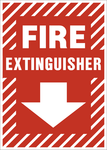 Arrow Down Fire Extinguisher