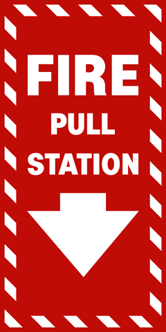 Fire Pull Station Western Safety Sign