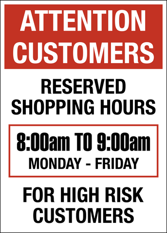 Reserved Shopping Hours