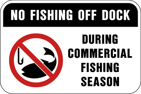 No Fishing Off Dock