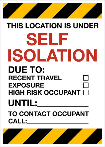 COVID-19 Self-Isolation