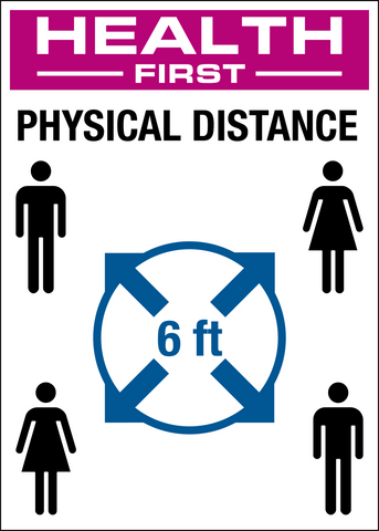 COVID-19 Prevent the Spread - Physical Distance Circle