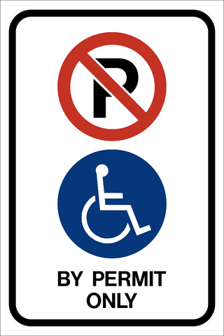 Handicap Reserved Permit Required