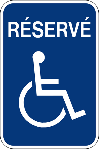 Handicap Reserved French