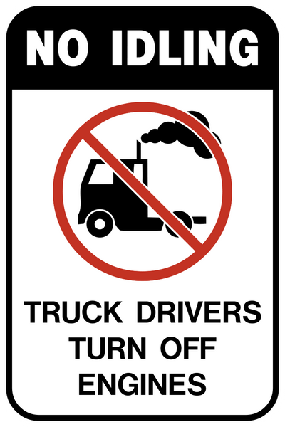 No Idling Western Safety Sign