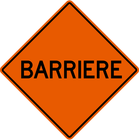 MC-4 F Barricade Ahead French