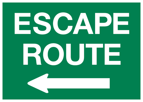 Escape Route arrow left