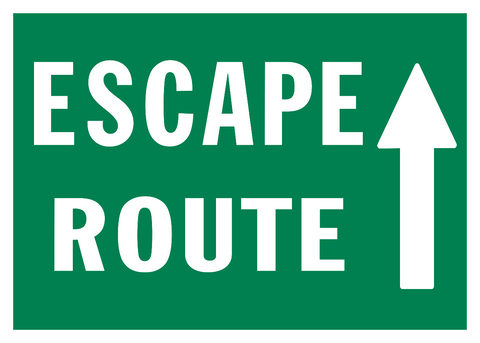 Escape Route Arrow Up