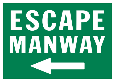 Escape Manway arrow left