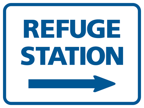 Refuge Station arrow right