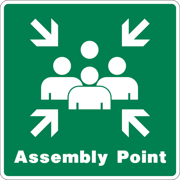 Assembly Point Western Safety Sign