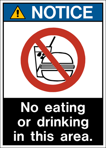 Notice - No Eating or Drinking