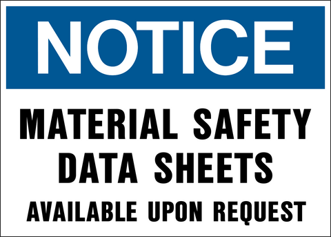 Notice - Material Safety Data Sheets