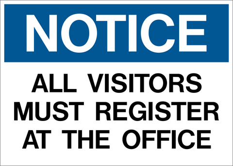 Notice - All Visitors