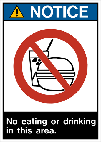 Notice - No Eating or Drinking A
