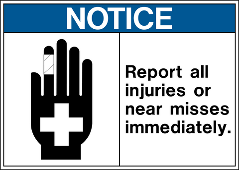 Notice - Report Injuries