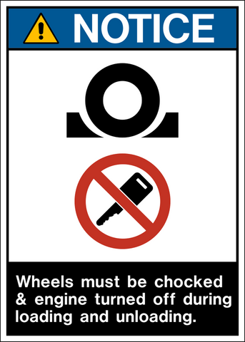 Notice - Chock Wheels