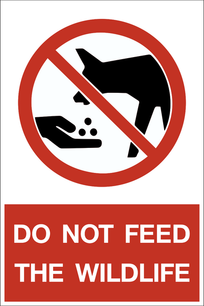 Do Not Feed Wildlife Western Safety Sign