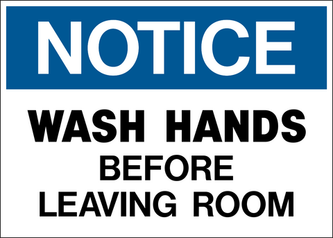 Notice - Hand Washing