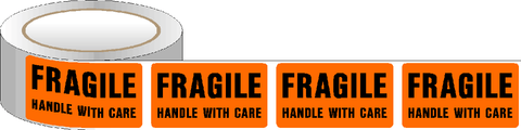Fragile Handle with Care Packaging Labels
