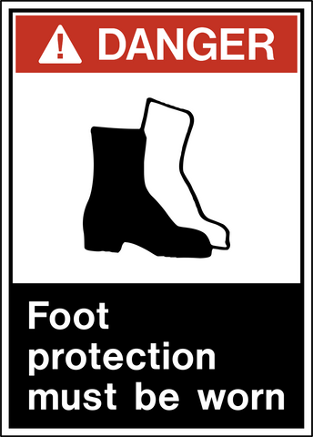 Danger - Foot Protection