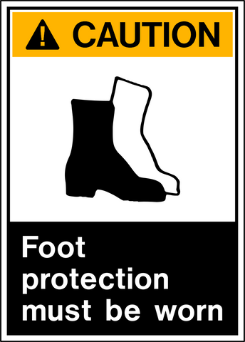 Caution - Foot Protection