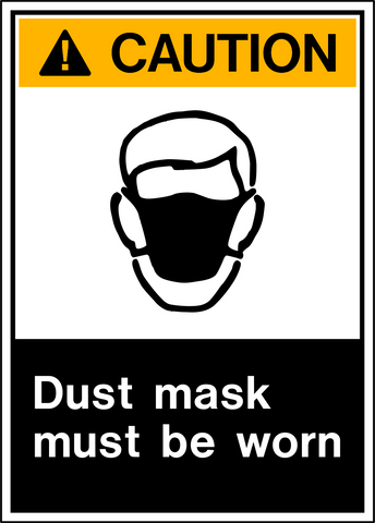 Caution - Dust Protection