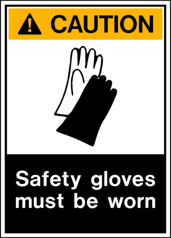Caution - Hand Protection