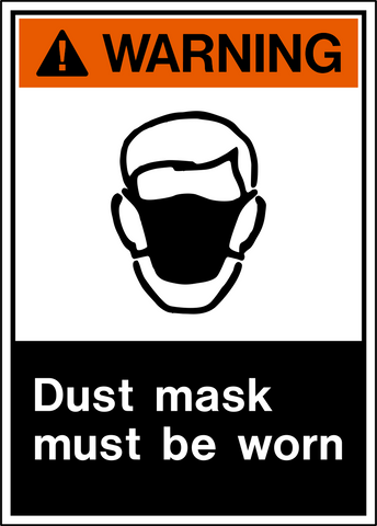 Warning - Dust Protection