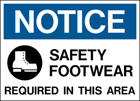 Notice - Foot Protection