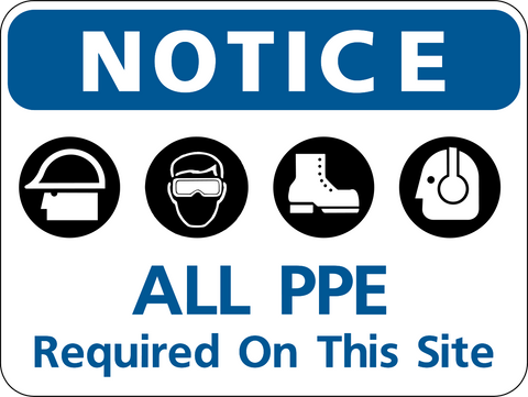 Site Safety Ppe Ln Western Safety Sign