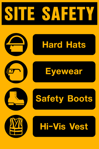 Site Safety Ppe Western Safety Sign