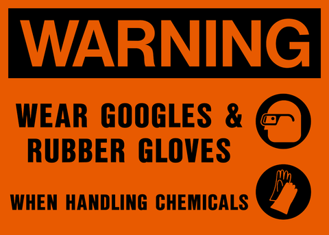 Warning - Eye and Hand Protection