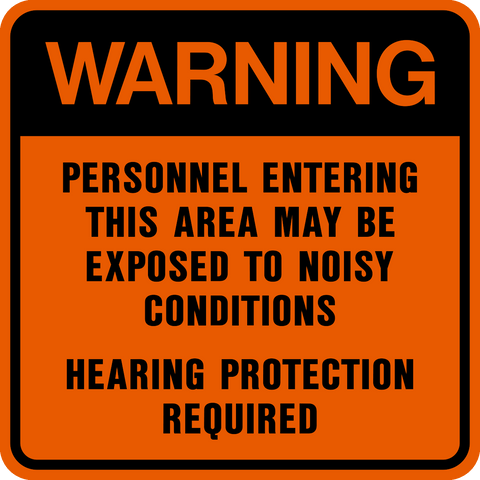 Warning - Ear Protection
