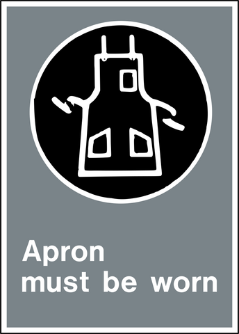 Safety Apron Western Safety Sign