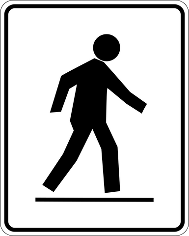 RA-4 L - Pedestrian Crossing left of street