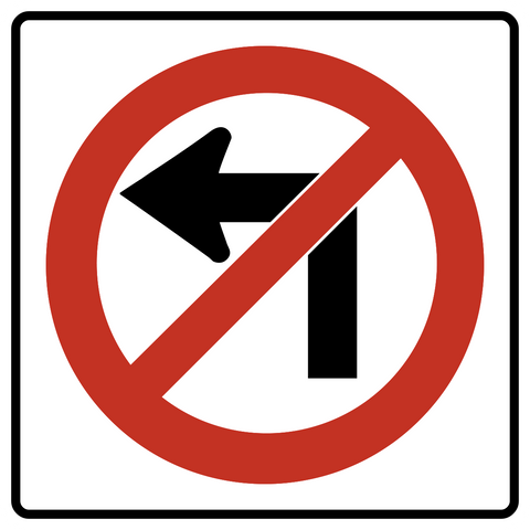 RB-11 L - No Left Turn