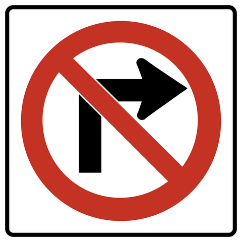 RB-11 R - No Right Turn
