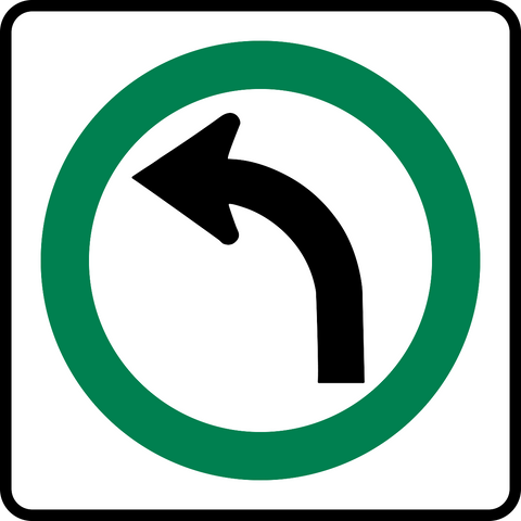 RB-14 L Left Turn Only