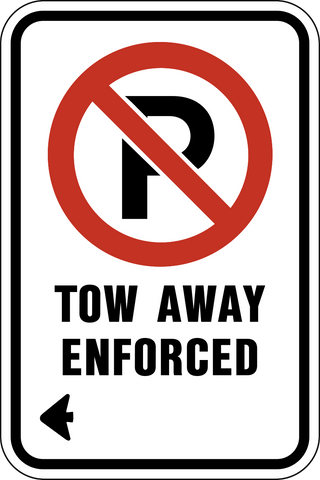 No Parking Tow Away Enforced